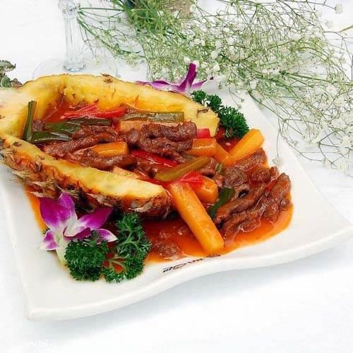 胡萝卜菠萝牛肉