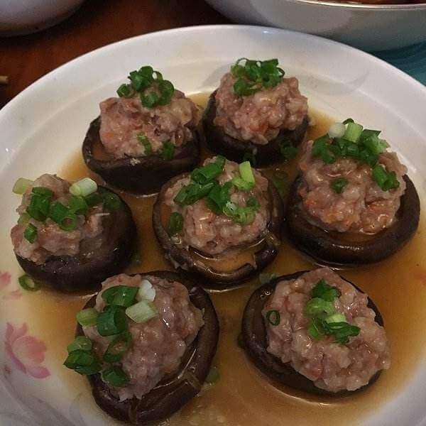 香辣口蘑酿肉