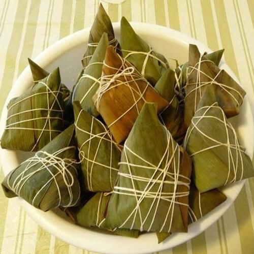 黄黏米紫薯馅粽子
