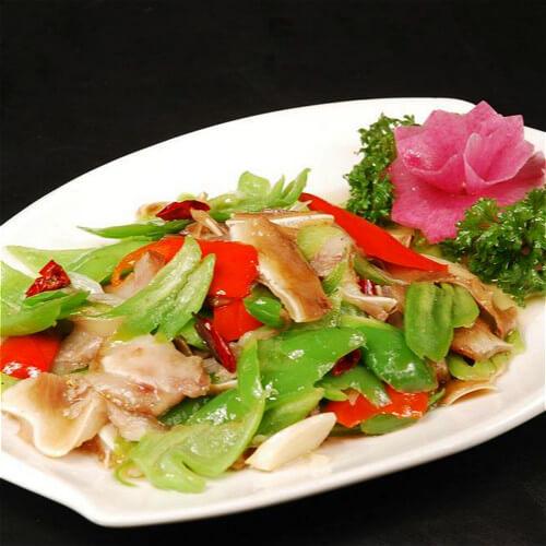 肉炒青椒片