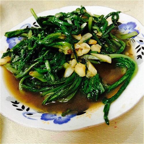 马齿苋炒油麦菜