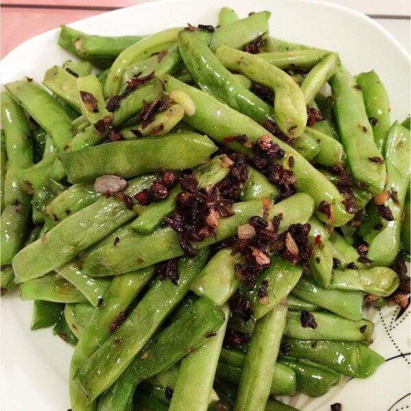 简单干菜刀豆