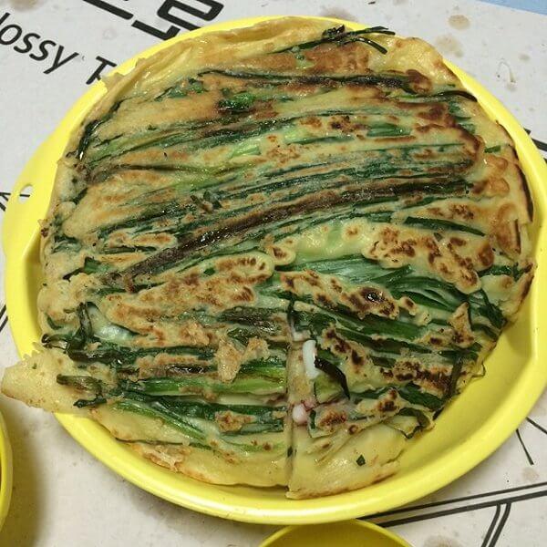 韭菜瘦肉煎饼