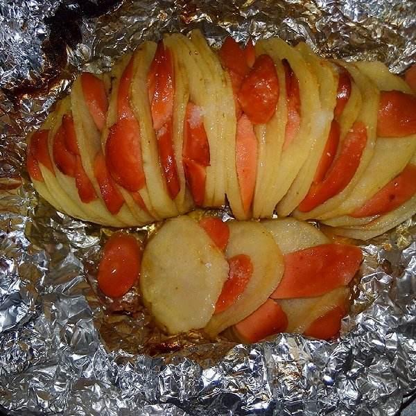 腊肉风琴烤土豆