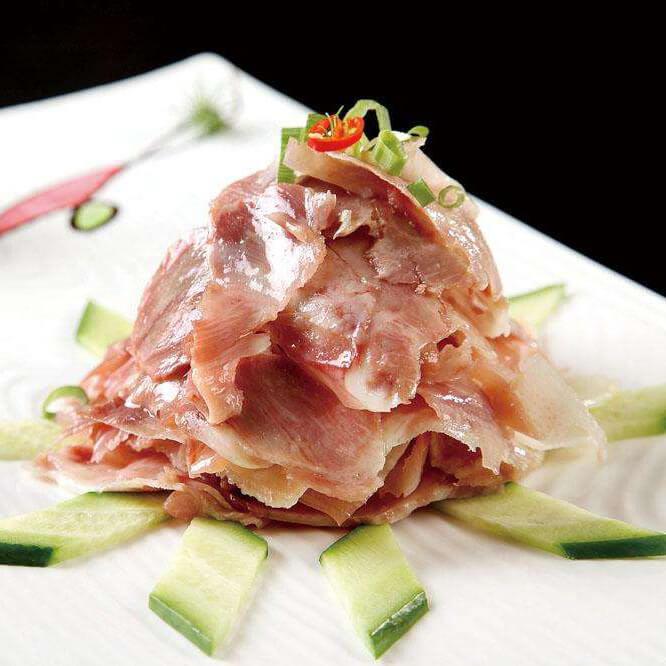 猪头肉炒西兰花