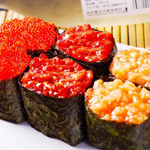 鳕鱼肝军舰寿司家庭版
