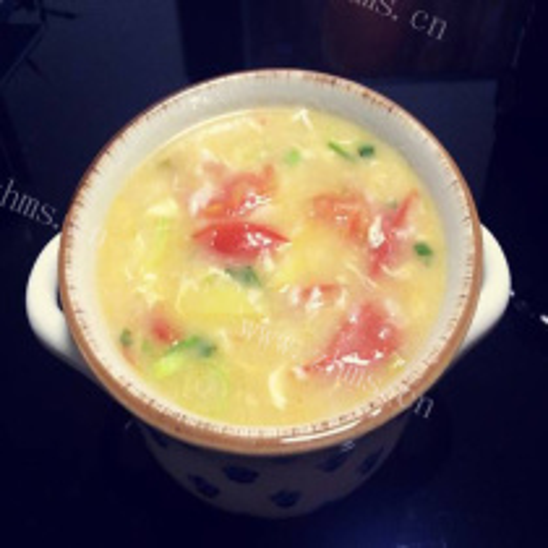 奶油番茄鸡蛋浓汤