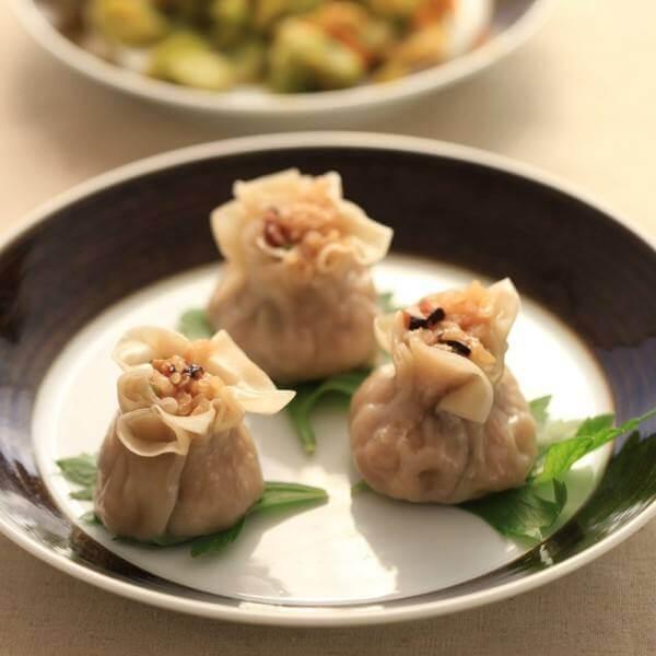 香菇鱿鱼糯米烧卖