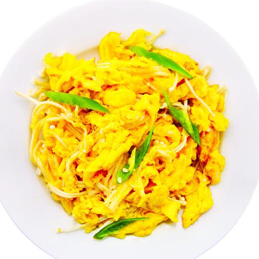 木槿花炒蛋