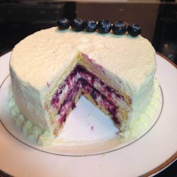 蓝莓果酱蛋糕