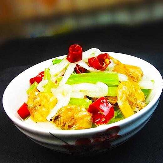 虾干山药煮白菜