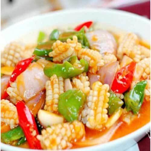 鱿鱼炒杂蔬