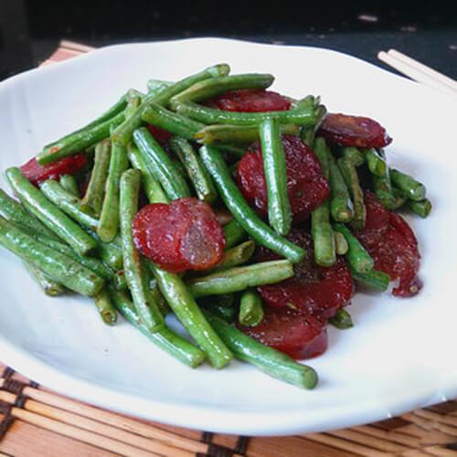 湘西腊肠炒豇豆