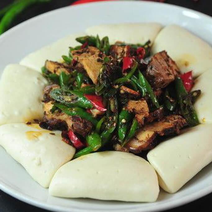 尖椒馒头炒肉