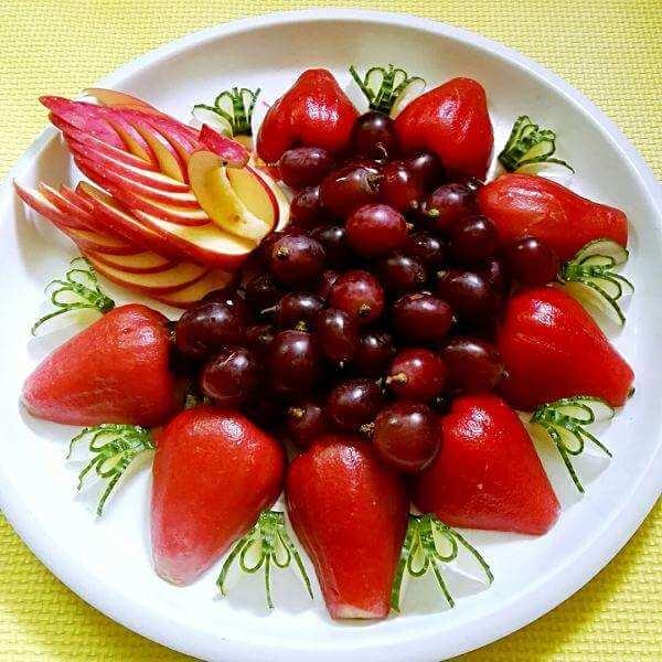水果拼盘之水果花