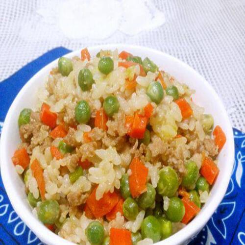 肉末豌豆饭