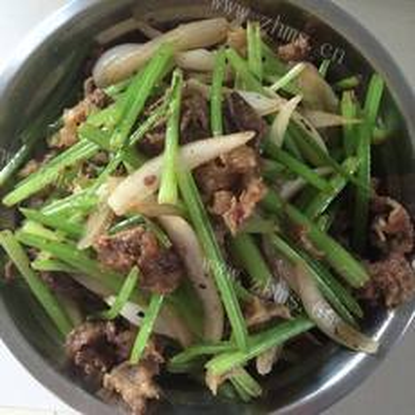 #特色菜#韭苔牛杂