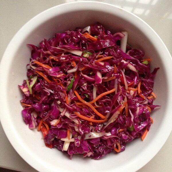 紫甘蓝拌花生米