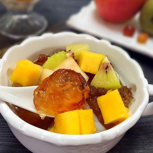 桃胶百合水果捞