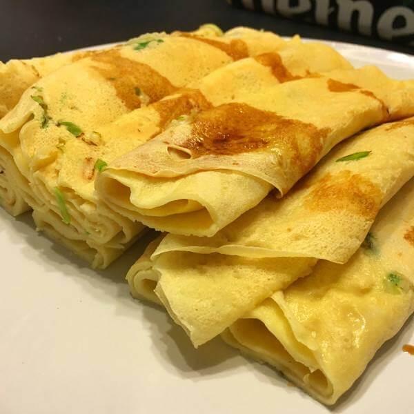 虾皮蒜苗煎饼