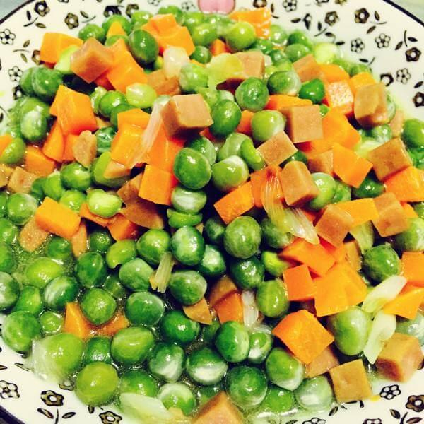 简单版虾仁炒豌豆