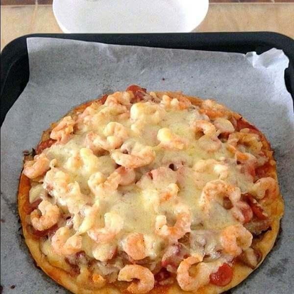 美味的叉烧披萨
