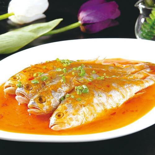 美味的香葱小黄鱼