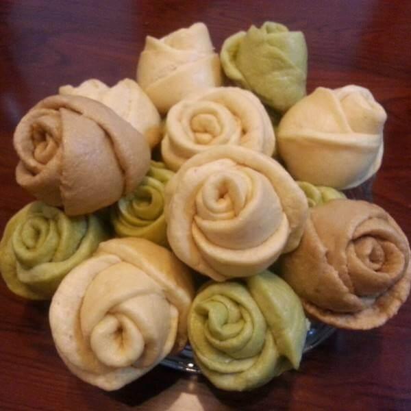 奶香玫瑰花卷