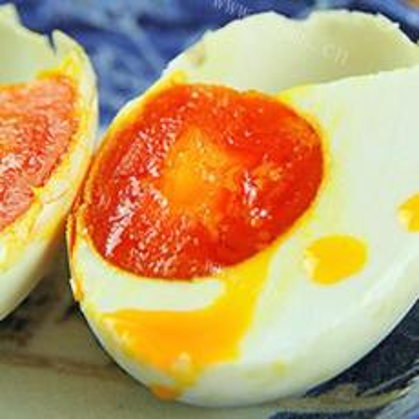 酱油葱花鸭蛋