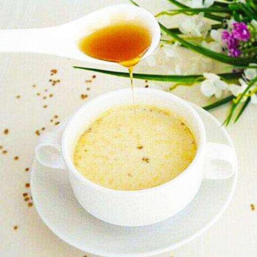 爱上蜂蜜花粉奶茶