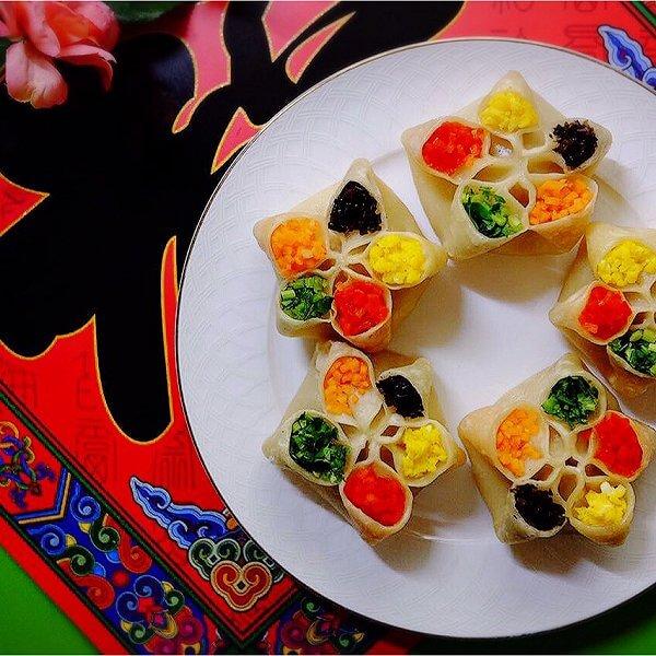 美味的千禧花式蒸饺