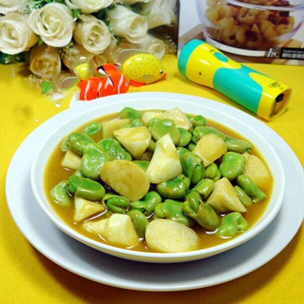 美味咖喱茭白蚕豆