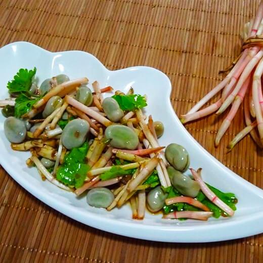 懒人版-香菜拌胡豆