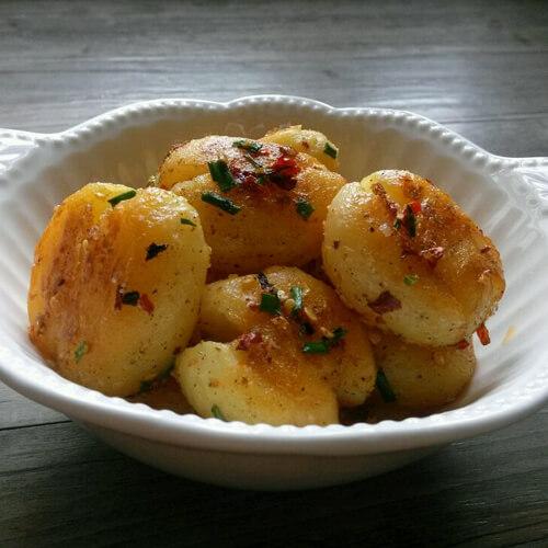 美味的香煎黑椒土豆