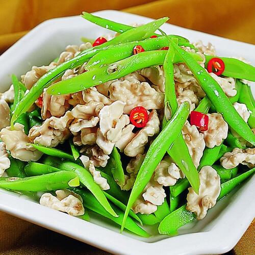 豌豆片炒瘦肉