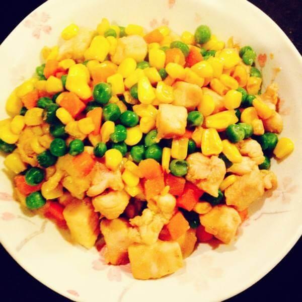 黄豆炒玉米胡萝卜