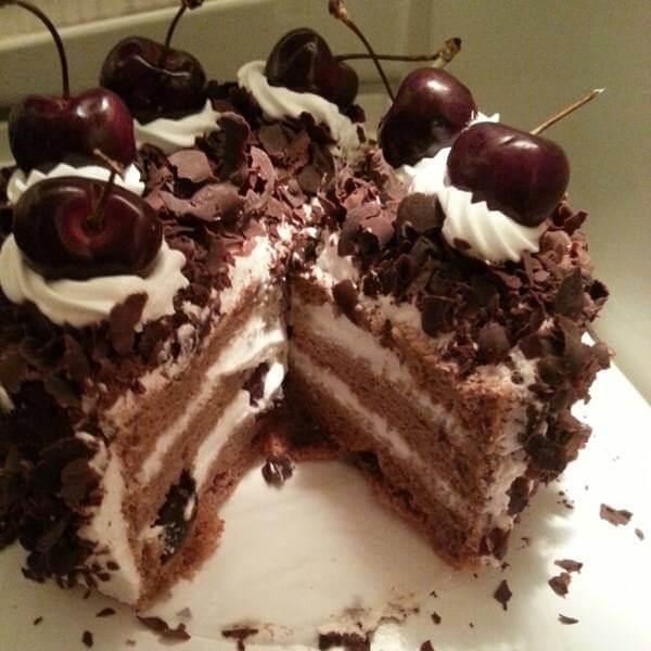 自制森林蛋糕