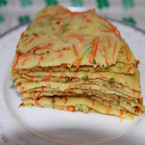 西葫芦红萝卜鸡蛋饼