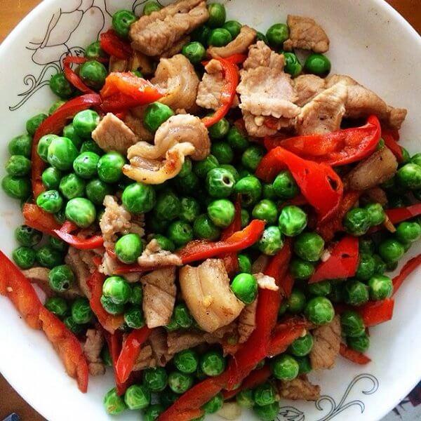 雪菜炒豌豆