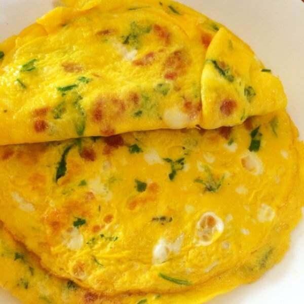 芹菜玉米鸡蛋饼