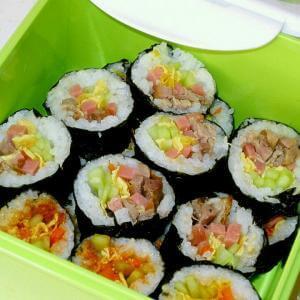 什锦火腿寿司