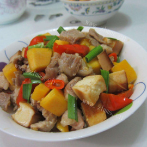 小南瓜炒肉片