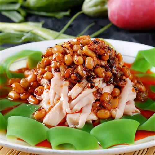 豆豉拌冲菜