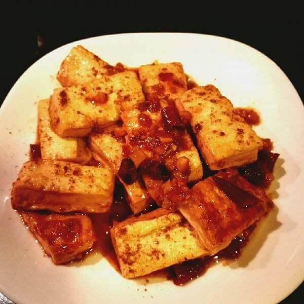 生菜裹豆腐