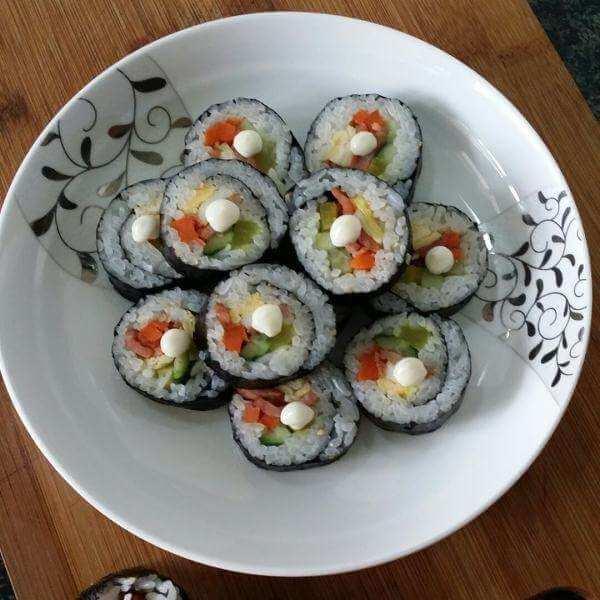 营养菜青虫寿司