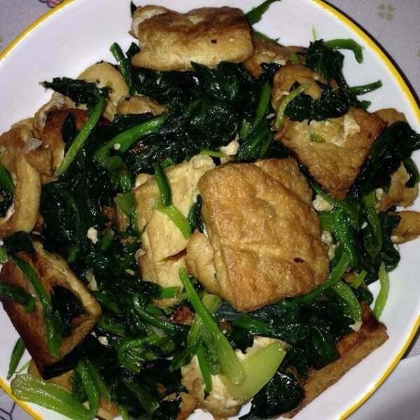 菠菜干豆腐
