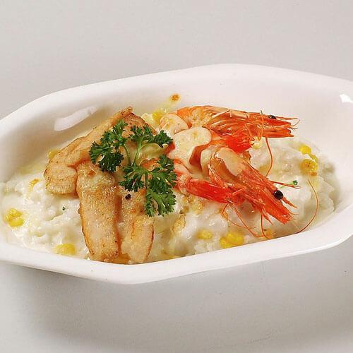 燕麦番茄虾仁软饼