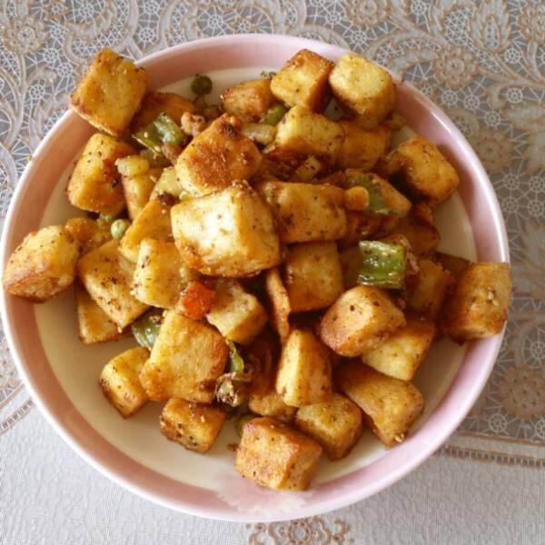 青蒜干豆腐炒肉