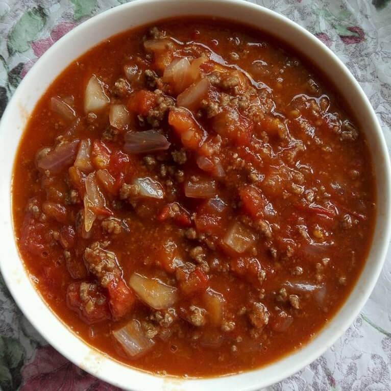 美味的西红柿煮肉碎