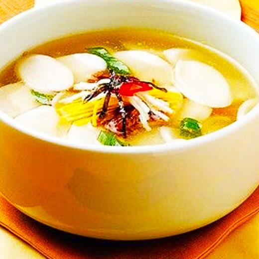 菰米牛肉年糕汤